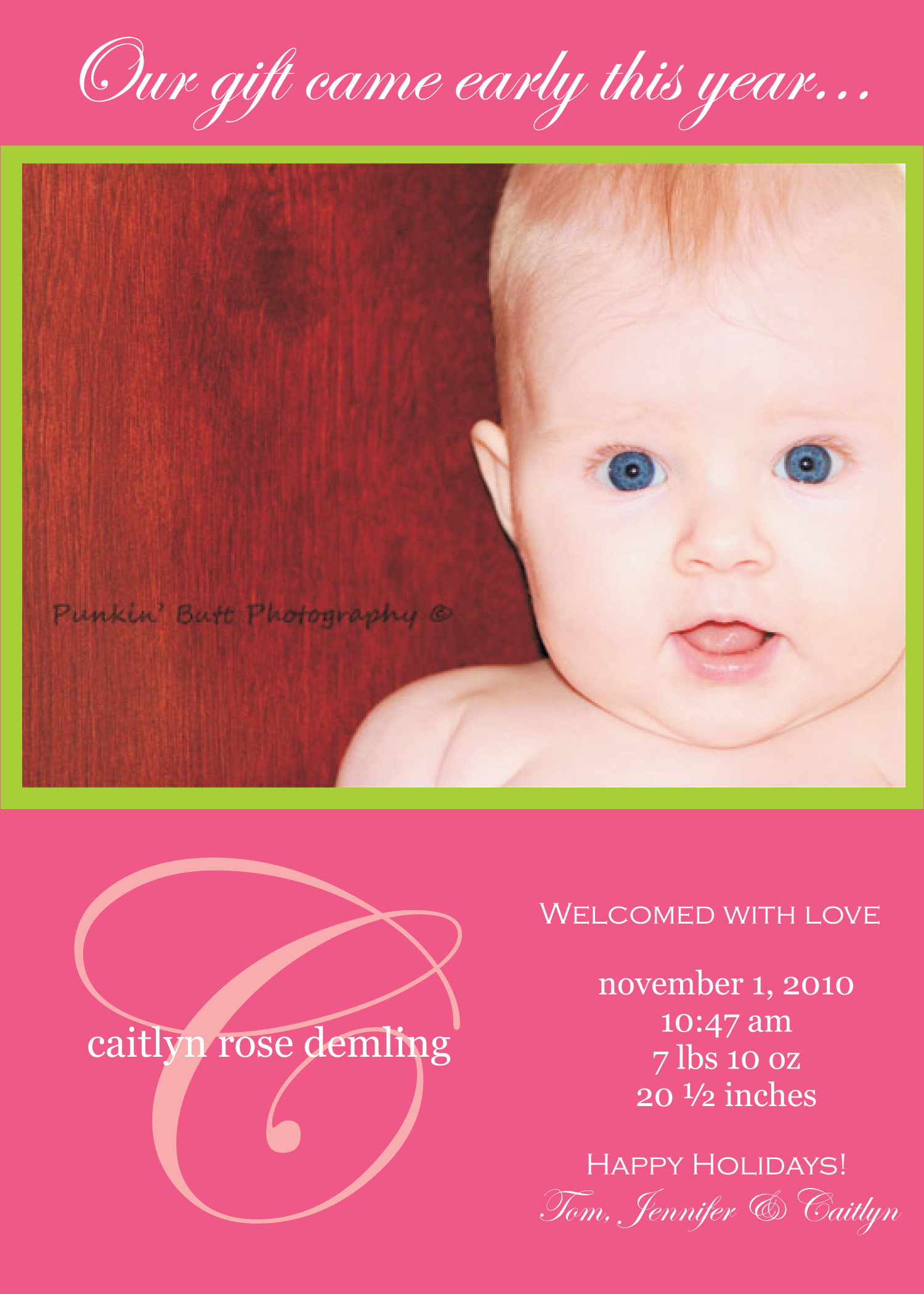Sample Birth Announcements – Birth Announcement Examples